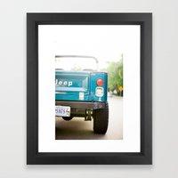 Jeep Scrambler Summer Framed Art Print