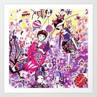 The case of purple spot sickness Art Print