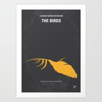 No110 My Birds Minimal M… Art Print