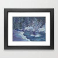 Bear Creek Winter Framed Art Print