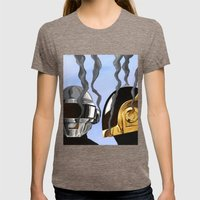 Daft Punk Deux Womens Fitted Tee Tri-Coffee SMALL