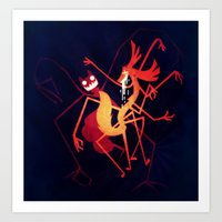 Ghostinael Art Print