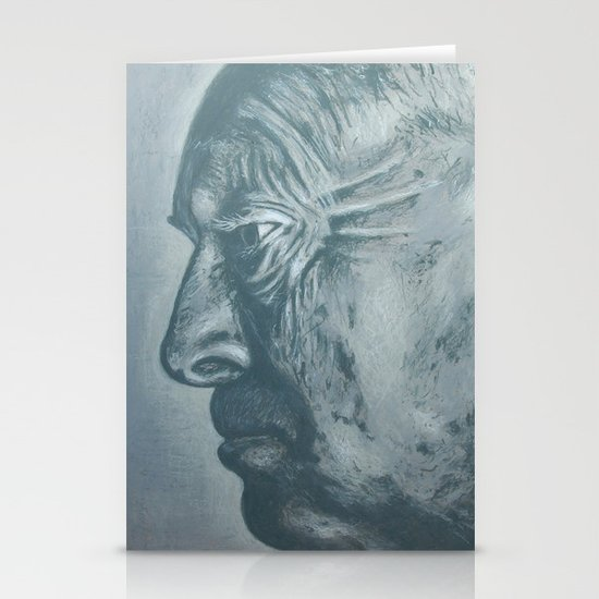 vladimir nabokov-grey scale Stationery Card