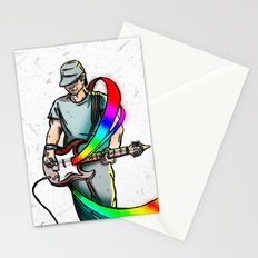 Guitarist (Colour My World) Stationery Cards