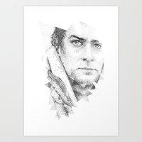 Bonobo Dot Work Portrait Art Print