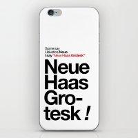Helvetica Neue / Neue Ha… iPhone & iPod Skin