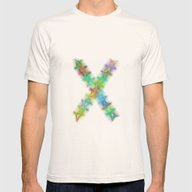 Letter X Mens Fitted Tee Natural SMALL