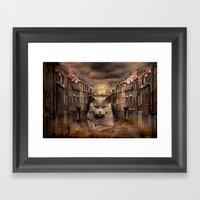 The City Cat Diesel Framed Art Print