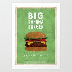 Pulp Fiction - Big Kahun… Art Print