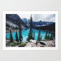 Lake Moraine Alberta Art Print