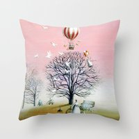 Baby's breath Throw Pillow