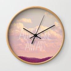 Adventure Awaits  Wall Clock