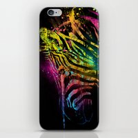 Zebra Mood Technicolor iPhone & iPod Skin