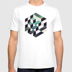 isybryyk Mens Fitted Tee White SMALL