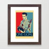 Towes One Goal Framed Art Print
