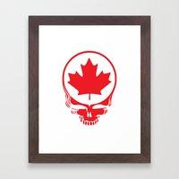 Canadian Steal Your Face (variation #2) Framed Art Print