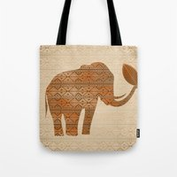Elephant Tribal Art Desi… Tote Bag