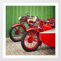 Moto Guzzi Art Print