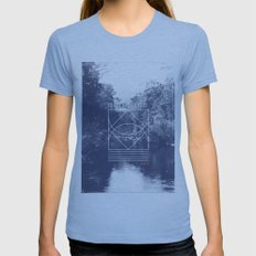 Quietude Womens Fitted Tee Athletic Blue SMALL