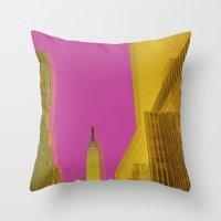 PINK NYC Throw Pillow