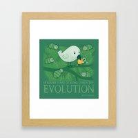 Try Evolution!  Framed Art Print
