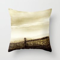 Corn Sky Throw Pillow