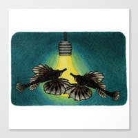 Sea Moths Canvas Print