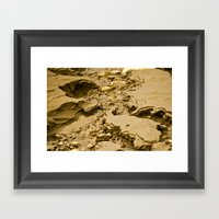 Mud Flats Framed Art Print