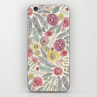 feather fleur watercolor iPhone & iPod Skin