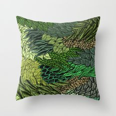Leaf Cluster Throw Pillow