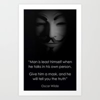 Men In A Mask Art Print