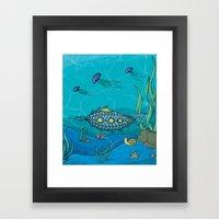 Nautilus Under The Sea Framed Art Print