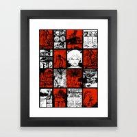 RED & WHITE - A nne Frankenstein Book I - Resurrection Framed Art Print