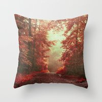 magical redwoods Throw Pillow
