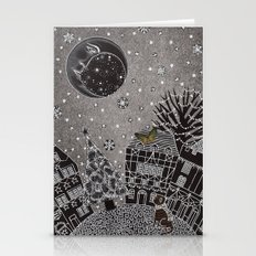 'Twas A Moonlit Winter N… Stationery Cards