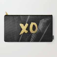 XO gold - bw banana leaf Carry-All Pouch