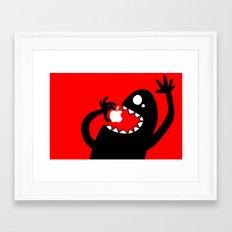 apple eater Framed Art Print