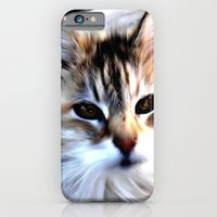 iPhone Cases featuring Cat Cream and Brown by Regan's World