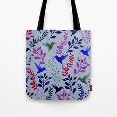 Watercolor Floral & Birds  Tote Bag
