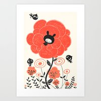 Nap Flower Art Print