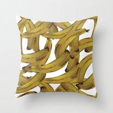 Retro Banana Pop Art Throw Pillow