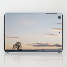 Tree on a hilltop above Matlock silhouetted at twilight. Derbyshire, UK. iPad Case