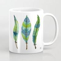 Mystic Sea Feather Trio Mug