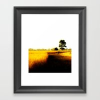 Wheat Fields Framed Art Print