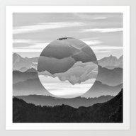 Art Print featuring Geo Nature Mountains by Openact