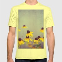 Lilac and Yellow Mens Fitted Tee Lemon SMALL