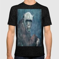 Blue Monkey Mens Fitted Tee Tri-Black SMALL