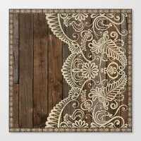 WOOD & LACE Canvas Print