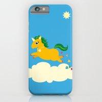 The golden unicorn of glitter poo iPhone 6 Slim Case