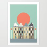 Thinking Of Amsterdam Art Print
